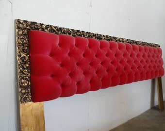 VELVET TUFTED King Size REGENCY Headboard