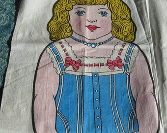 SALE Rag Doll No 1 Alice Little Girl doll in Undergarments. Bethnal Green Museum