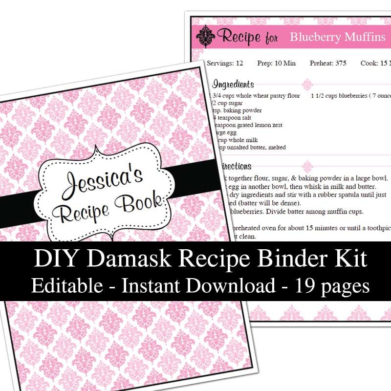 Playful image intended for free printable recipe binder kit