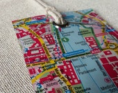Westminster London original map luggage tag