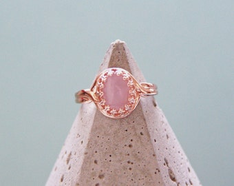 Romancing The Stone Rose Quartz Rose Gold Ring