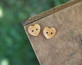 Reserved Listing- Wood Heart Buttons- Handmade Wooden Buttons- Made To Order- Wooden Button- Knitting, Sewing, Craft Buttons