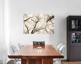 Large Rustic Forest Wall Art - Custom Made Woods and Trees Nature Decor