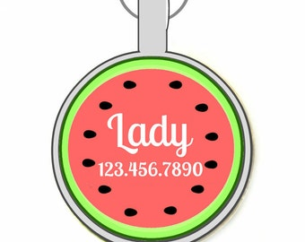 Watermelon Pet ID Tag