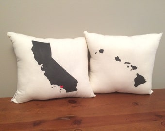 Set of Any Two State or Country Pillows