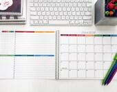 "2016 Monthly Desk Calendar 8.5""x11"" | Medium Desk Planner | 2016-2017 Desk Planner | Desk Organizer | Desk Calendar Pad | Monthly Planner"