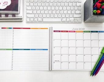 "2017 Monthly Desk Calendar 8.5""x11"" | Medium Desk Planner | 2017-2018 Desk Planner | Desk Organizer | Desk Calendar Pad | Monthly Planner"