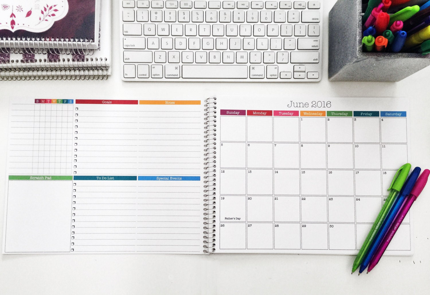 Desk Calendar Planner : Monthly desk calendar medium