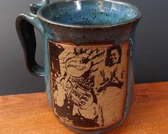 Popeye, Spinach & Michelle Obama Stoneware Mug