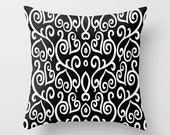 Throw Pillow Black and White Ombre Pink Heart Pattern Design Pillow Cover Bedroom Decor  Valentine Gift Couch Living Room Home Decor