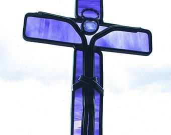 Purple crucifix