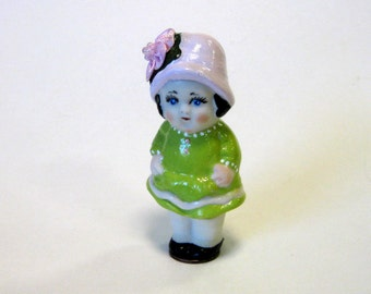 """Penny doll 3"""" Hattie Fatty  cast in porcelain from a vintage mold"""