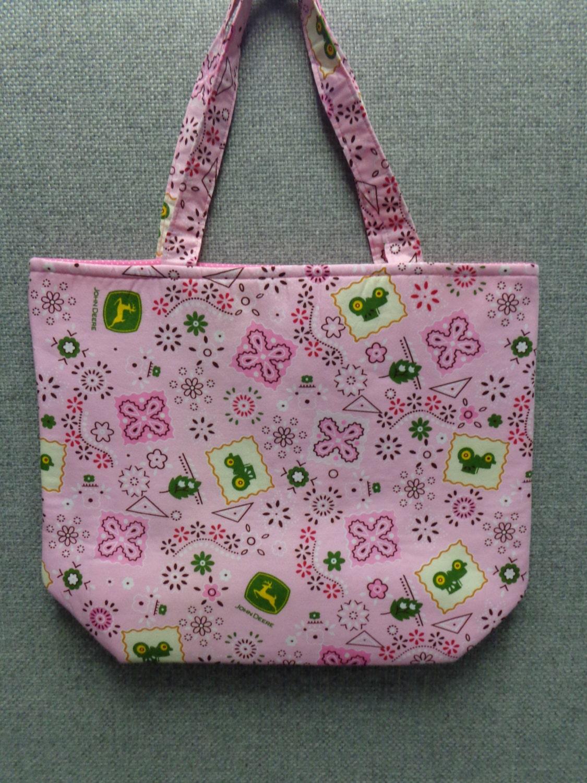 preschool book bags deere pink bandana tote bag book bag preschool tote 258