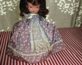Nancy Ann Storybook Doll, FREE SHIPPING, Bisque, 1940's, Frozen Legs, Story Book USA, Original Outfit