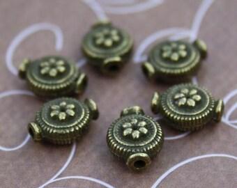 Pack of 30 – Antique Bronze Zinc Alloy Beads