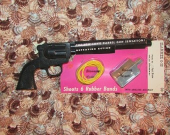 Vintage 1950s Hard Plastic TOY GUN Mint in Package Made in USA
