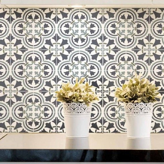 Augusta Tile Stencil Size: Small Stencil Designs For Home