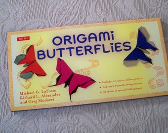 Vintage Craft Supply Origami Butterfly Kit Origami Paper Instructions Origami Projects