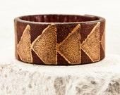 Leather Boho Cuff Bracelet Women's Jewelry Rustic Primitive Tattoo Cover