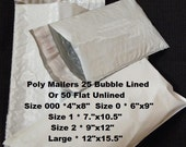 Shipping Bags, Shipping Envelopes, Poly Mailers, Bubble Mailers, 4x8 Bubble Mailers 6x9, 9x12, Large Mailers
