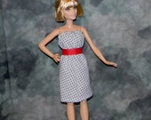 PB1-26) NEW PETITE Barbie doll clothes, 1 summer dress with belt