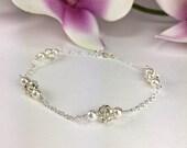 Sparkly Bracelet Bridal Bracelet Bling Bracelet Rhinestone Ball Bracelet Crystal Ball Bracelet Formal Bracelet Bridesmaid Bracelet Samantha