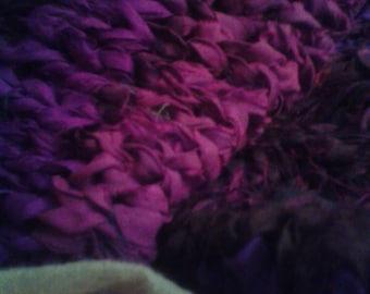 Purple violet aubergine cowl tube infinity scarf shrug