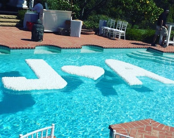 12 Floating Letter Wedding Pool Decoration