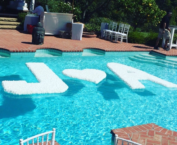 Giant Floating Pool Letters