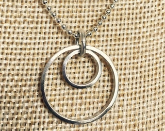 Sterling Silver Double Circle Pendant