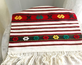 SOLD sold sold Reserved Item Vintage Romanian Woven Textile Wall Hanging Colorful Weaving