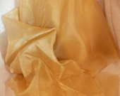 Gold Crepon Sheer Nylon Gold Sheer Wedding Fabric