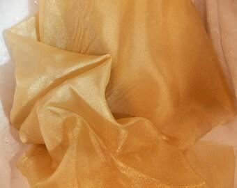 Gold Crepon Sheer Nylon Gold Sheer Wedding Fabric