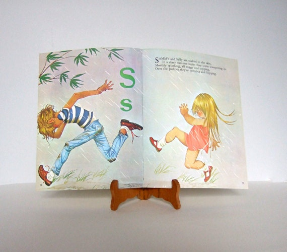 Vintage Wall Decor For Nursery : Nursery decor wall art vintage s book page illustration