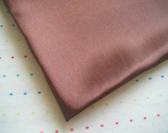 "Brown Satin Lining Fabric, 60"" Wide, BTY"