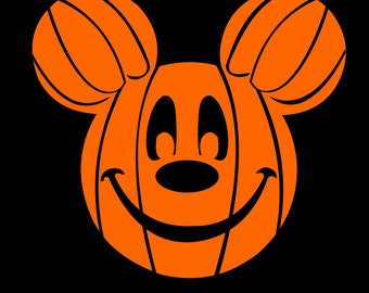 Unique Mickey Mouse Pumpkin Related Items Etsy