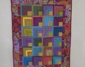 RESERVED LISTING for CHRIS--Quilted wall hanging, Kaffe Fassett wall hanging, modern wall hanging, stripes/flowers wanging, wall hanging
