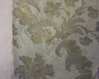 18th c French Silk Brocade Fabric~ Shimmering Gold threads, Rococo Florals