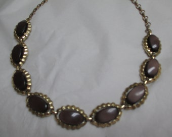 Vintage costume jewelry /  CORO  thermoset necklace