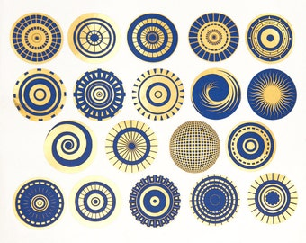 Two Color Circle Pattern Decals