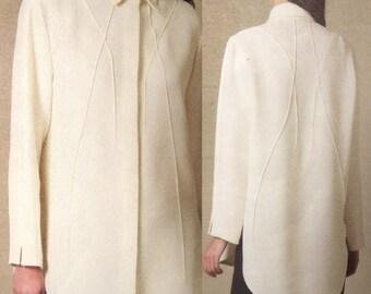 Shirt, Pants, Chado Ralph Rucci Vogue Pattern 1215 V1215, Shaped Tucks, Darts Uncut, Dated 2010 Size 8 10 12 14, 2010 (Box C)