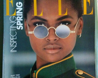 May 1989 Elle fashion magazine 80s glam New York night life art scene