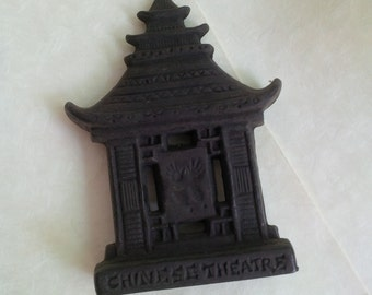 Vintage souvenir Chinese Theater Hollywood USA - Year 1966 - Dark brown