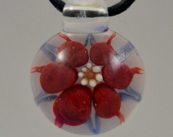 Hand Blown Lampwork Glass Pendant - Boro Necklace - Glass Jewelry