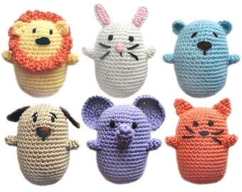 Animal Gift Card Holders - PDF Crochet Pattern - Instant Download