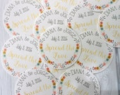 "100 2"" circle round tags or stickers 2"" - completely custom design. Choose your paper. Use for earring display cards, jar labels, tags"