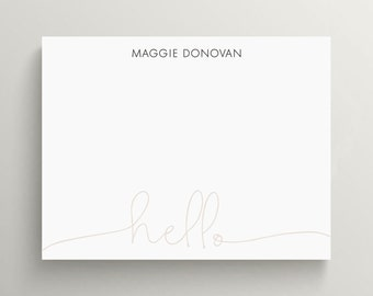 hello stationery set //  thank you note set  //  note card // modern // unisex // simple // gift // birthday gift // sophisticated // cards