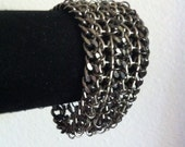 Mixed metal mesh cuff