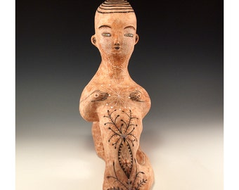 Unique Ceramic Sculpture - Skin - Jenny Mendes Sculpture