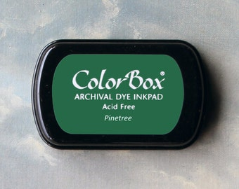 Green Stamp Pad (Pinetree) // Archival ink // ColorBox